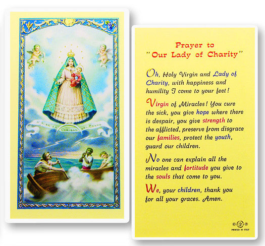 Our Lady of Charity Holy Card