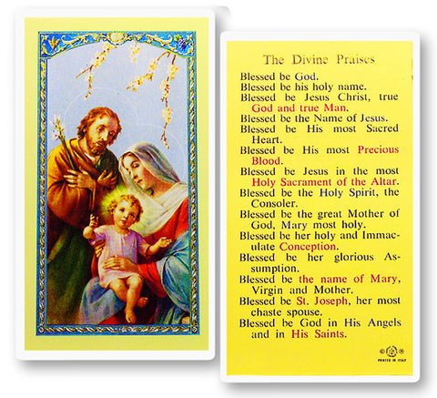 The Divine Praises Holy Card
