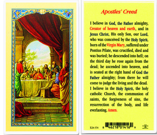 Apostles' Creed Holy Card