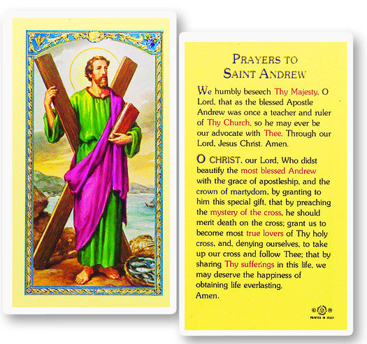 St. Andrew Holy Card