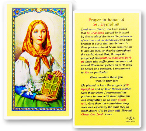 St. Dymphna Holy Card