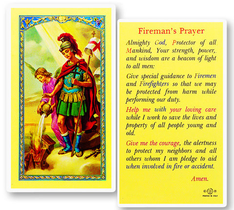 St. Florian - Fireman Prayer Holy Card