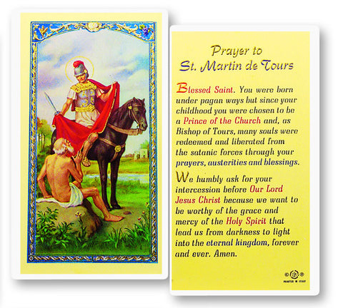 St. Martin of Tours Holy Card