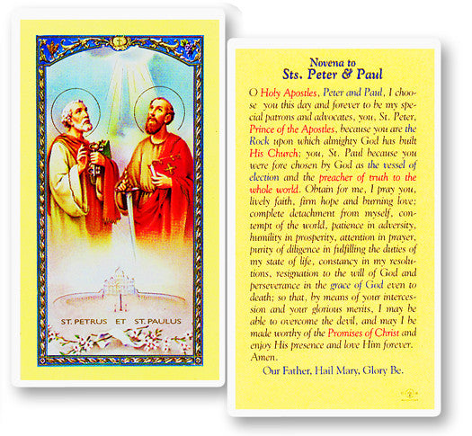 Sts. Peter and Paul Holy Card