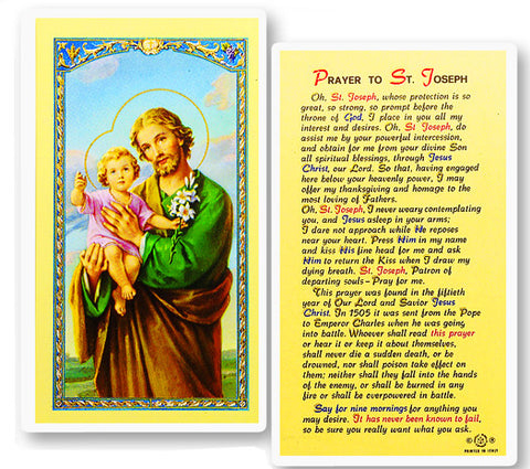 St. Joseph  - 50th Year of Our Lord Holy Card
