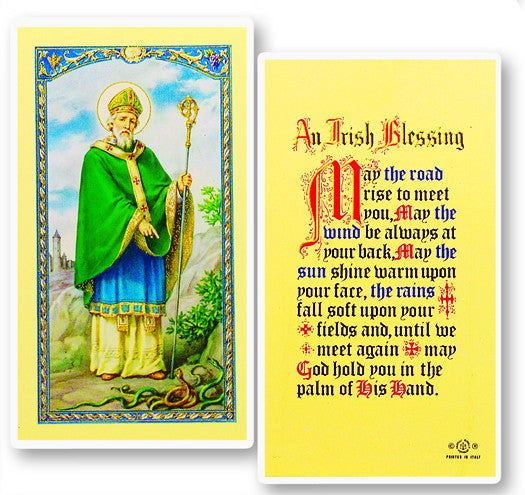 St. Patrick - An Irish Blessing Holy Card