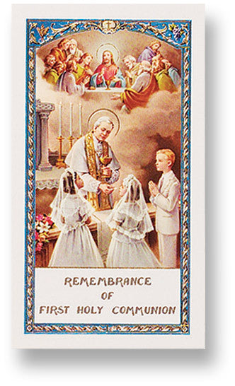 Communion Prayer Holy Card
