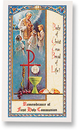 First Holy Communion Holy Card