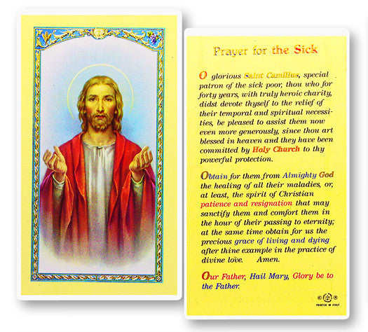 Prayer for the Sick Holy Card