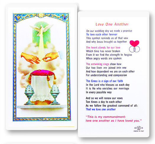 Love One Another Holy Card
