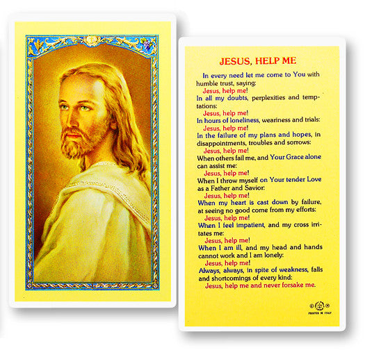 Jesus Help Me Holy Card