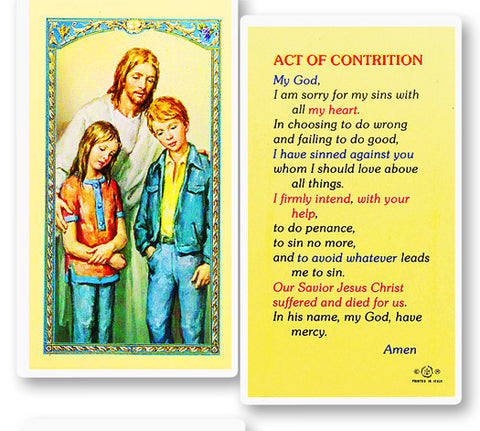 The Comforter - Act of Contrition Holy Card