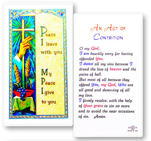 Act of Contrition Holy Card