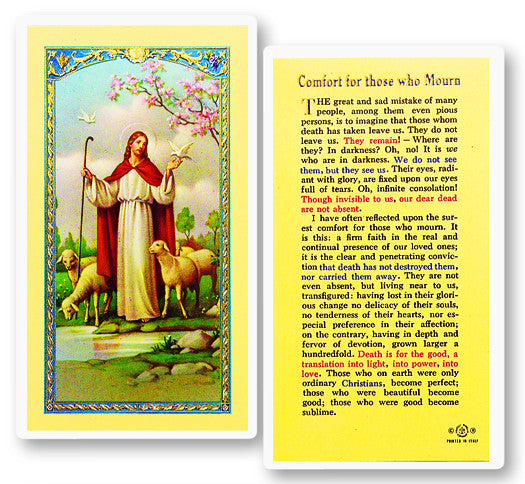 Comfort Prayer Holy Card