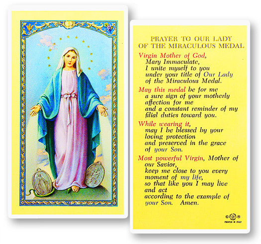 Our Lady of the Miraculous Medal Holy Card