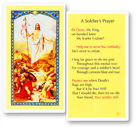 Soldier's Prayer Holy Card