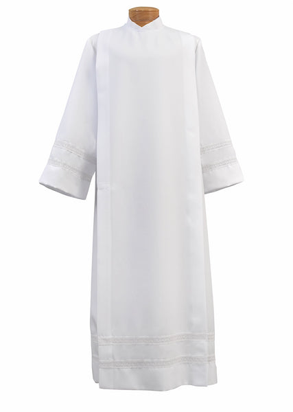 Front Wrap Poplin Clergy Alb - 4772