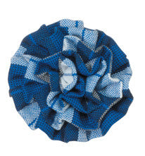 Plaid Rosette Barrette
