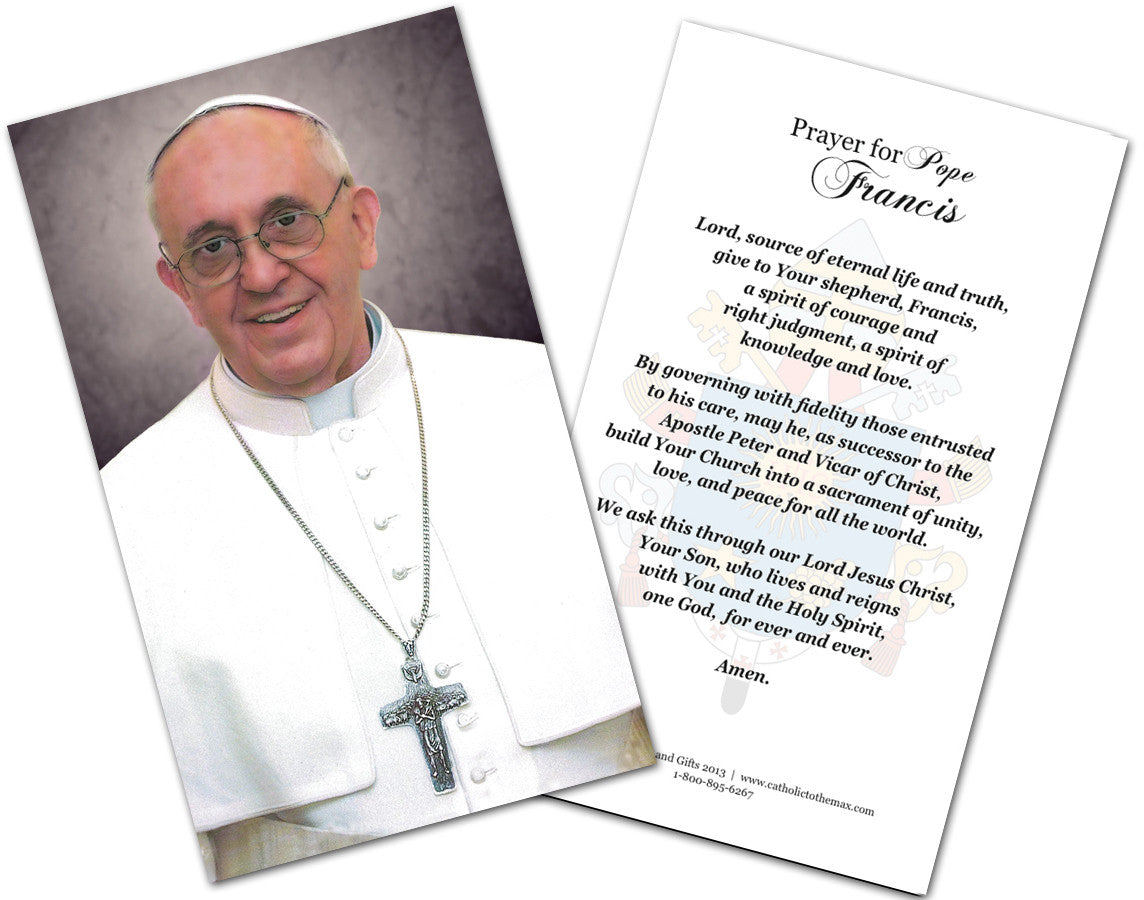 Pope Francis Prayer Cards