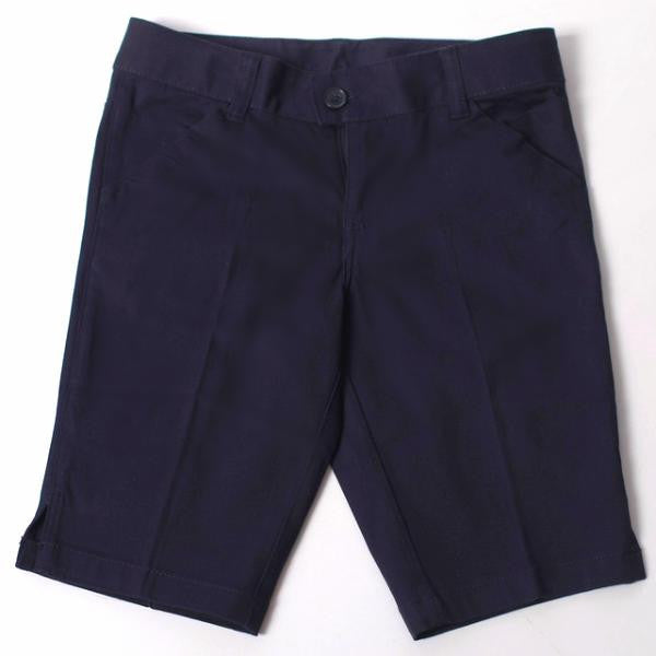 Girls Navy Adjustable Waist Shorts