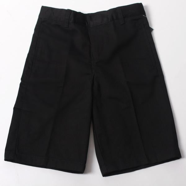 Boys Black Adjustable Waist Short