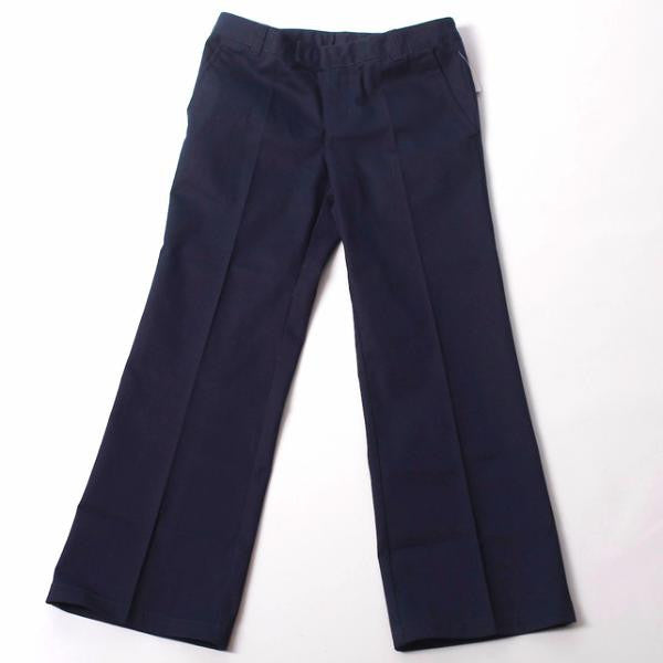 Girls Navy Adjustable Waist Pant