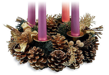 Pine Cone Advent Wreath