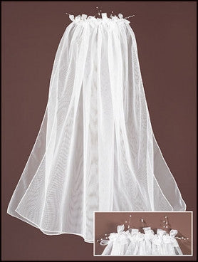 Pearl and Floral First Communion Veil