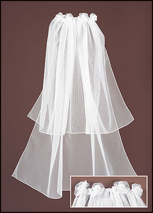 Floral Tiered First Communion Veil