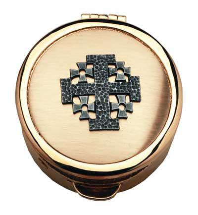 Pyx - Jerusalem Cross Design