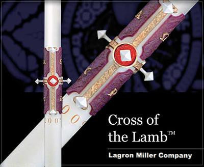 Cross of the Lamb Paschal Candle