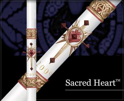 Sacred Heart Paschal Candle