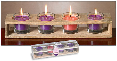 Advent Glass Votive Set with Holder