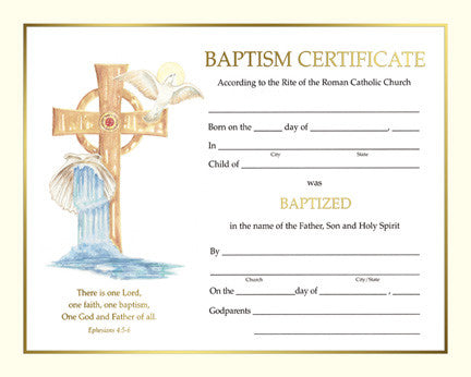 baptism certificate lagron miller company