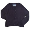Girls Navy Fine Gauge Knit Cardigan Sweater