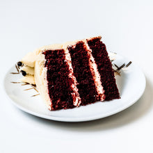 Load image into Gallery viewer, Cocoa and Fig Black Velvet Cake Slice