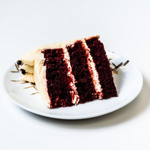 Cocoa and Fig Black Velvet Cake Slice