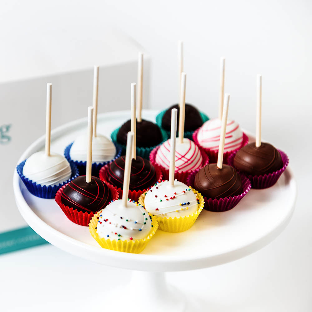Assortment of cake pop flavors