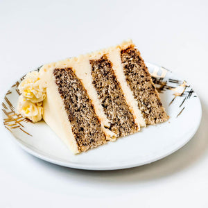 Cocoa and Fig Banana Cake Slice