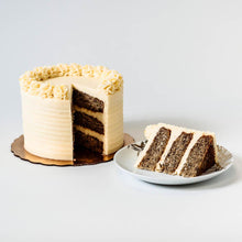 Load image into Gallery viewer, Cocoa and Fig Banana Cake Sliced