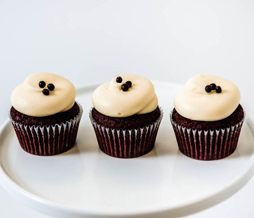 Cocoa and Fig Black Velvet Cupcake