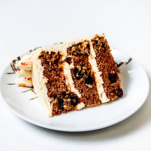 Cocoa and Fig Carrot Cake Slice