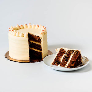 Cocoa and Fig Carrot Cake Sliced