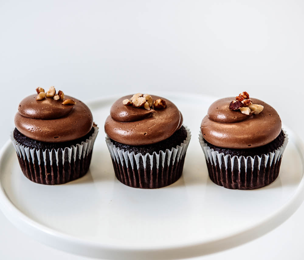 Cocoa and Fig Chocolate Hazelnut Cupcake