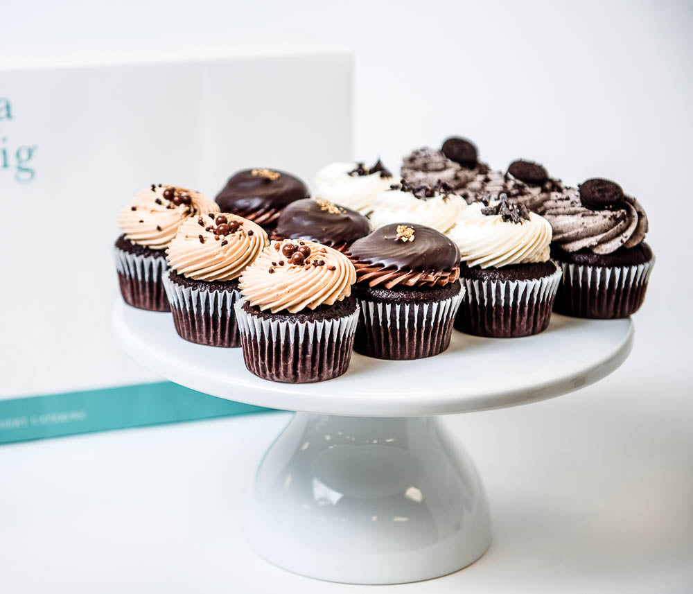 Cocoa and Fig Chocolate Lover's Dozen Cupcakes
