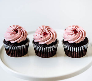 Cocoa and Fig Chocolate Raspberry Cupcake
