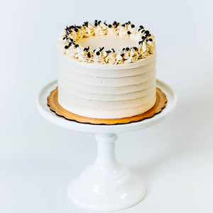 Cocoa and Fig Chocolate Vanilla Cake