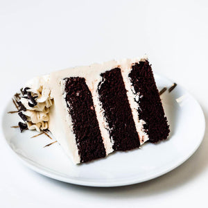 Cocoa and Fig Chocolate Vanilla Cake Slice