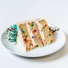 Load image into Gallery viewer, Cocoa and Fig Confetti Cake Slice