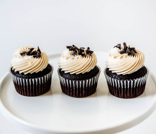 Cocoa and Fig Dark Chocolate Cupcake
